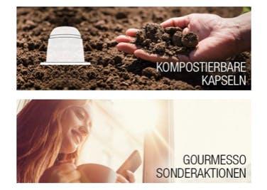 Gut für Umwelt und Portemonnaie: Kompostierbare Kapseln werden mit einem gourmesso-Gutschein besonders günstig