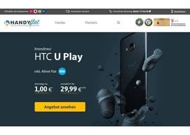 Bei HandyFlat sichert ihr euch tolle Preisvorteile auf Smartphones und Tarife