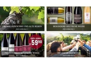 Weißwein, Rotwein, Champagner oder Sekt - Du hast die Qual der Wahl!
