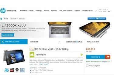 Bei Elektronikprodukten sparen mit einem Gutschein von Hewlett Packard