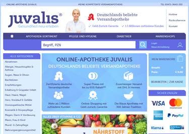 Medikamente bestellst du online auf juvalis.de