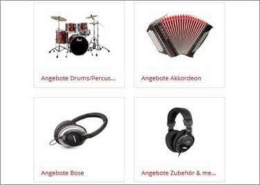 Musikinstrumente wie Gitarren, Keyboards und mehr bei musikhaus-Kirstein
