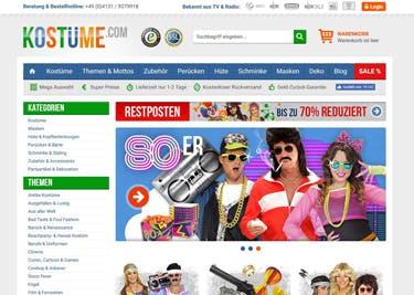 Kostüme.com Startseite