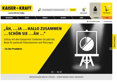 Bestelle dir alles, was du für dein Büro benötigst, online bei KAISER+KRAFT