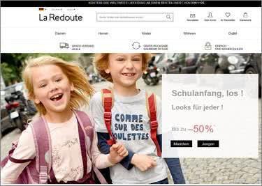 Die Startseite von La Redoute