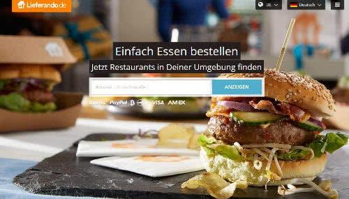 Startseite von Lieferando