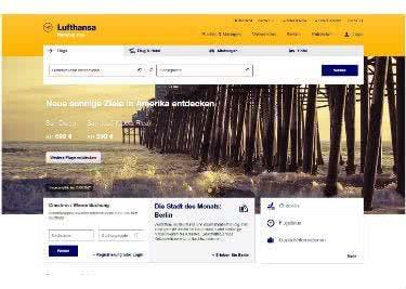 Flüge bei Lufthansa buchen