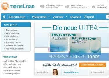 Erhalte mit einem Rabattcode Artikel von MeineLinse.de günstiger