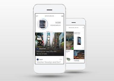 Auch als App verfügbar: Miles & More
