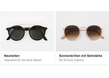 Entdecke modische Sonnenbrillen im Onlineshop von Mister Spex