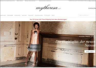 Startseite von mytheresa.com