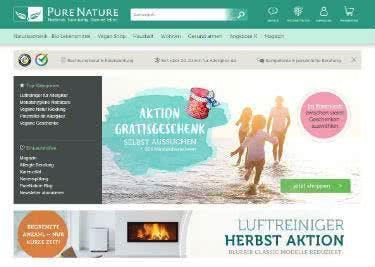 Die Website von PureNature
