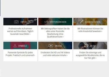 Shutterstock bietet dir Material für deine Kreativprojekte