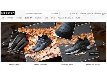 Mit einem Sidestep-Gutschein hast du die Chance, deine Lieblings-Sneaker günstiger zu bestellen