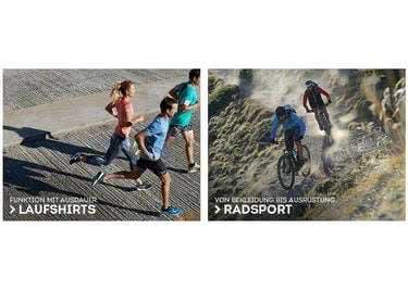 Begeisterte Läufer und Radfahrer shoppen sich bei SportScheck glücklich
