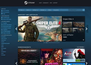 Steam bietet dir spannende neue Games