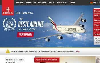 Sicher' dir auf der Emirates-Seite tolle Angebote und buche deinen Flug