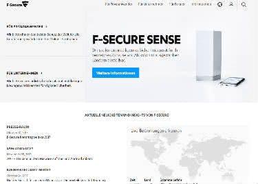 Die F-Secure Startseite bietet euch alle Infos zu den produkten