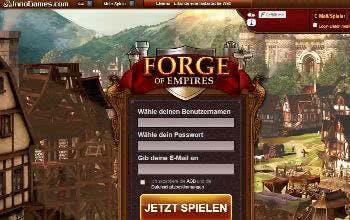 Melde dich bei Forge of Empires an und gründe dein eigenes Reich.
