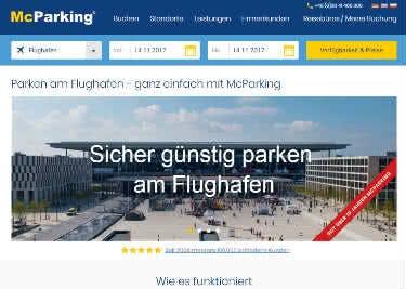 Informiere dich auf der Webseite von McParking über das Angebot