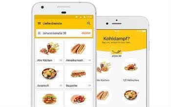 Mit der App von pizza.de bestellst du dein Essen direkt vom Smartphone aus.