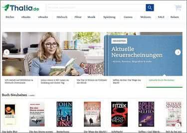 Eine riesige Auswahl von Büchern, Hörbüchern und mehr erwartet euch.