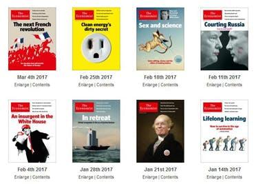 The Economist bietet dir ein breites Themenspektrum