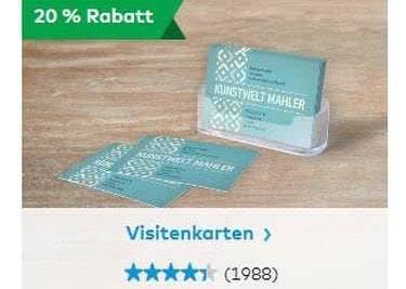 Drucke zum Sparpreis Visitenkarten und Co. bei Vistaprint