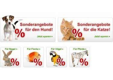 Zooplus bietet passende Produkte für alle Haustiere