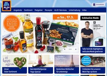 Shoppe online bei Aldi Süd und freue dich über tolle Sparmöglichkeiten