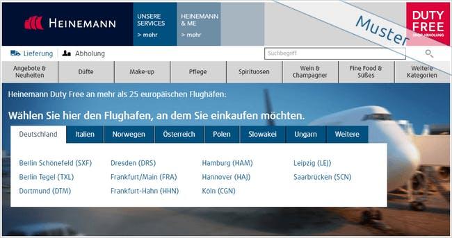 Heinemann Duty Free Startseite