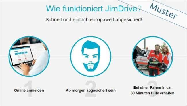 Melde dich bei JimDrive an