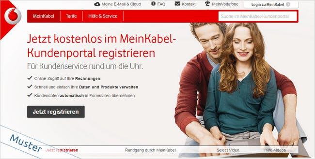 Kabel-Deutschland-Registrierung