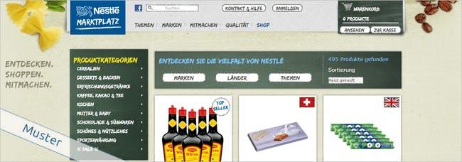 Bei Nestlé findet ihr eine riesige Auswahl an Lebensmitteln