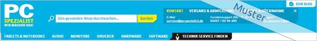 PC-SPEZIALIST Screen
