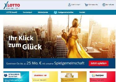 Startseite von lotto-online.net