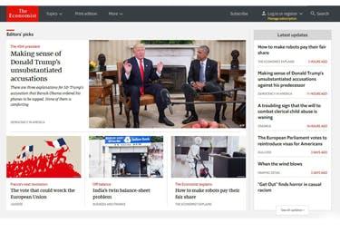 The Economist Startseite