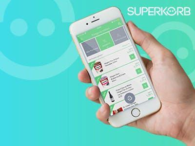 Jetzt die SUPERKORB-App downloaden