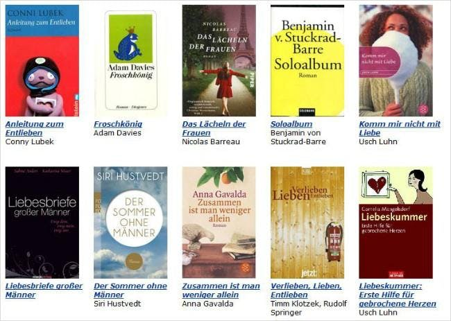 AbeBooks-Themenspecial: Bücher gegen Liebeskummer