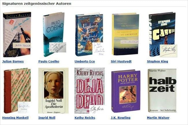 Bei AbeBooks bleiben keine Wünsche offen: Handsignierte Bücher zeitgenössischer Autoren