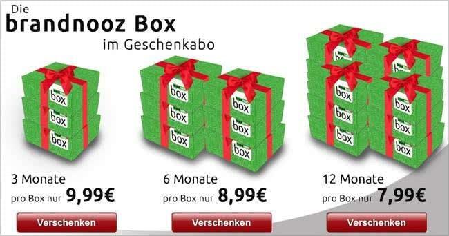 Brandnooz-Box zum Verschenken