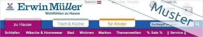 Im Erwin Müller Onlineshop findet ihr viele Produktkategorien