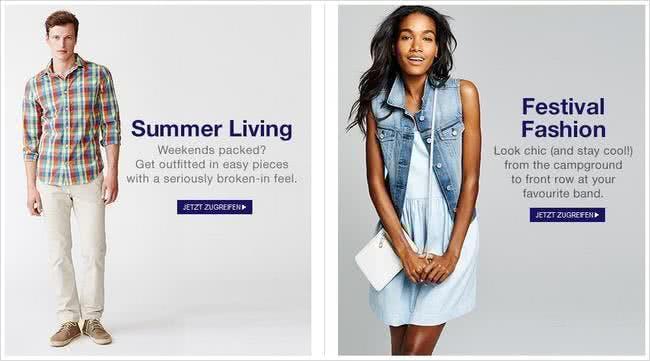 Aktuelle Trends bei Gap shoppen