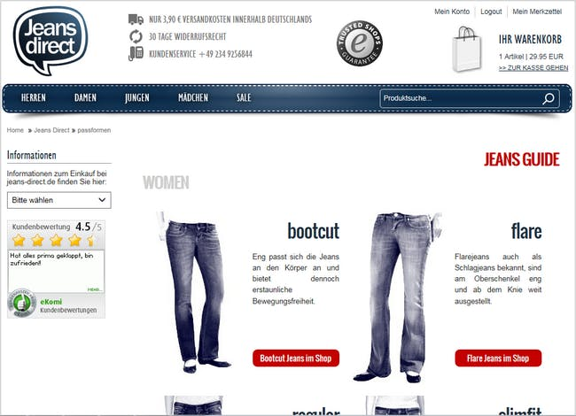 Jeans Guide von Jeans-direct