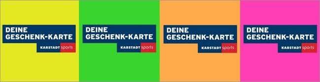 Die Karstadt Sports-Geschenkkarte sorgt für Freude