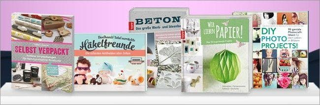 Auch Bastelbücher bestellt ihr bei Kreativ.de mit Gutschein