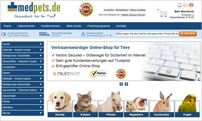 Medpets.de - Gesundheit für Ihr Tier!