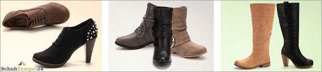 Stiefel und Ankle Boots bei Schuhtempel24 günstig einkaufen