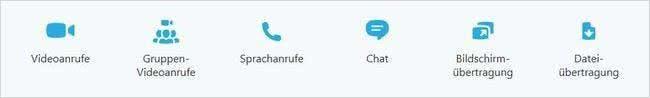 Skype-Funktionen