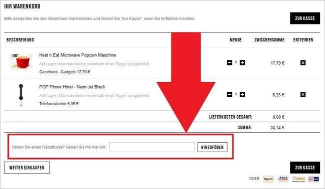Einen Gutschein bei Sowaswillichauch.de einlösen ist ganz einfach und erfolgt über den Warenkorb.